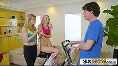 Stepson Catches Stepmom Cory Chase Seducing Cute Teen Neighbour Molly Mae