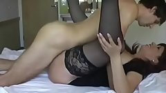 Mature Taboo Mom On Bed with Son