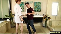 Hot mom fucking stepson - family sex