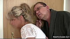 Horny mom and dad fucks their son'_s GF