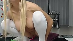 sexy cum slut masturbates on webcam like a whore