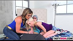 Mom Cory Chase seducing Piper Perri and her GF