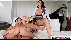 Tasting mom Syren Demer and GF Cassidy Klein