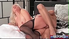 Blonde bombshell MILF in stockings(Kathy Anderson) 04 vid-01